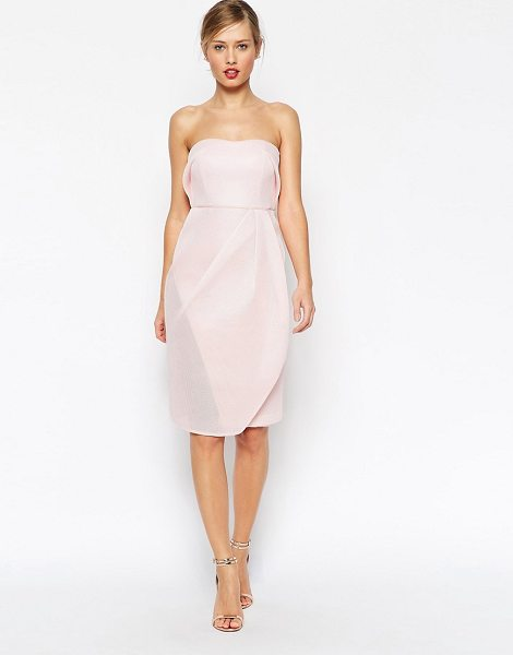 ASOS Mesh Bandeau Midi Body-Conscious Dress - Body-Conscious dress by ASOS Collection, Breathable...