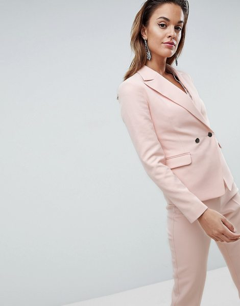 ASOS Tailored Occasion Blazer with Metal Buttons in pink - Blazer by ASOS Collection, For when you mean business,...