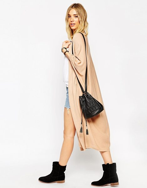 ASOS Midi cape cardigan - Midi cardigan by ASOS Collection Mid-weight, wool-mix...