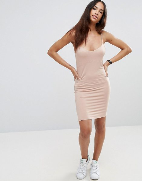 """Asos Mini Cami Bodycon Dress in pink - """"""""Bodycon dress by ASOS Collection, Soft-touch jersey,..."""