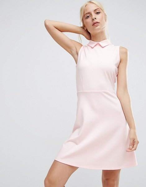 "Asos Mini Skater Dress with Collar in Ponte in pink - """"Skater dress by ASOS Collection, Soft-touch ponte,..."