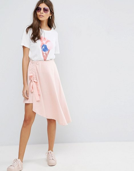 Asos Mini Skirt with Asymmetic hem in pink