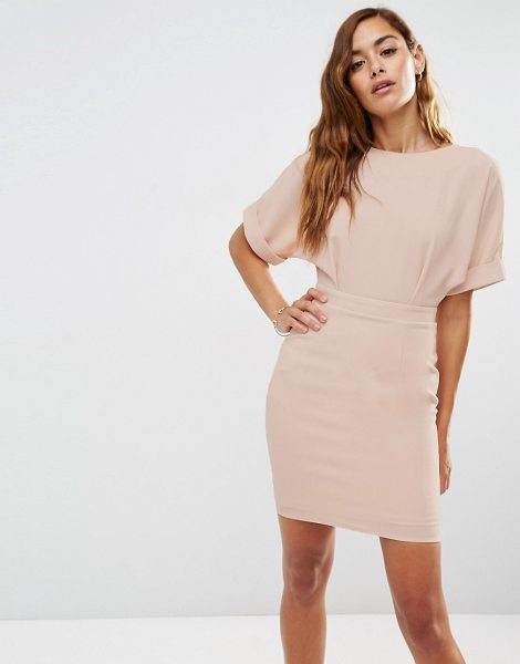 Asos Mini wiggle dress in blush - Dress by ASOS Collection Stretch woven fabric Round...