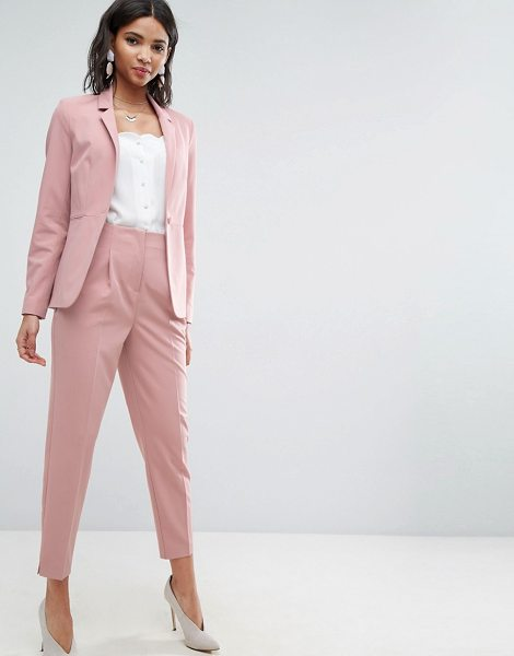 "Asos Mix & Match Highwaist Cigarette Pants in pink - """"Cigarette pants by ASOS Collection, Smooth woven..."