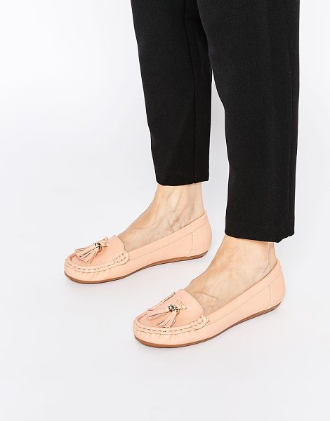 Asos Mock up flat shoes in apricot - Flat shoes by ASOS Collection Suede-look upper Round toe...