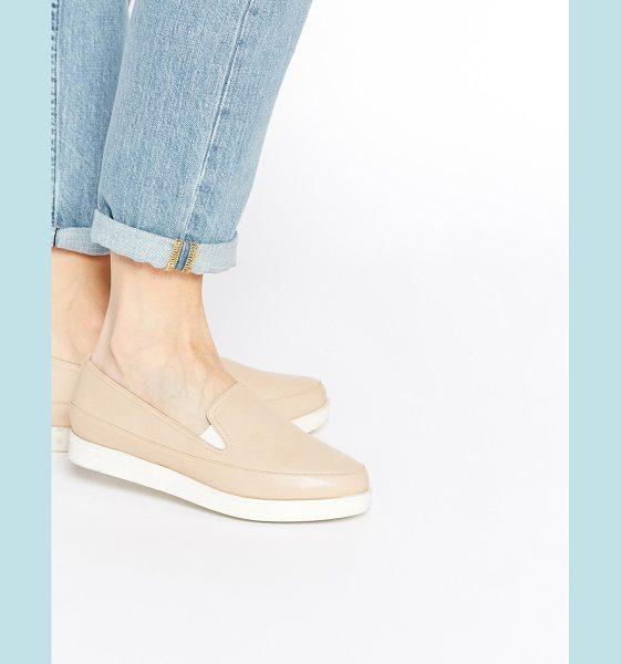 Asos Molly rose flat shoes in nude - Flat shoes by ASOS Collection, Leather-look upper,...