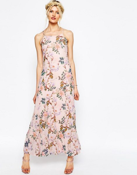 ASOS Occassion Printed Mesh Maxi Dress - Maxi dress by ASOS Collection, Soft-touch mesh, Fully...