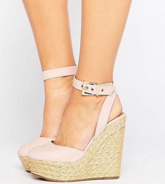"ASOS ODELL Wide Fit Wedges - """"Wedges by ASOS Collection, Faux-suede upper,..."