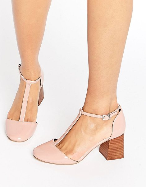 ASOS ONE WISH T-Bar Heels - Heels by ASOS Collection, Patent faux-leather upper,...
