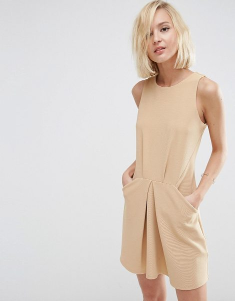 """ASOS Origami Mini Rib A Line Dress - """"""""Dress by ASOS Collection, Smooth stretch fabric, Round..."""