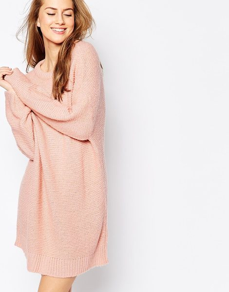 Asos Oversized sweater dress in chunky knit in pink - Casual dress by ASOS Collection Lightweight, open gauge...
