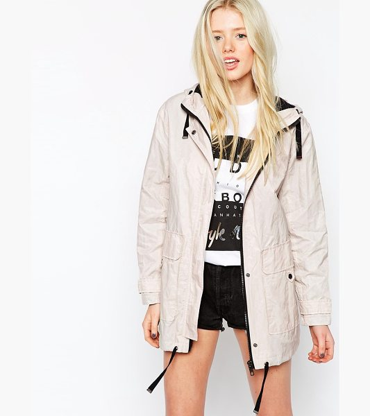 Asos Parka in Soft Metallic Finish with Contrast Trims in stone - Parka by ASOS Collection, Lightweight, lined twill,...