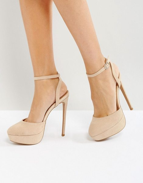 ASOS PAULA Platform Heels - Heels by ASOS Collection, Textile upper, Ankle-strap...