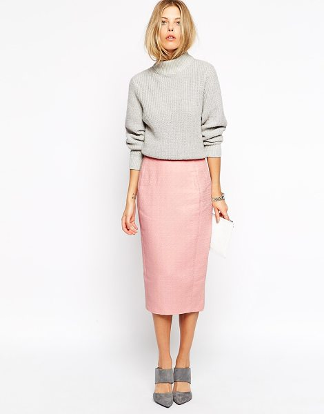 Asos Pencil skirt in texture in blush - Skirt by ASOS Collection Textured fabric High-rise waist...