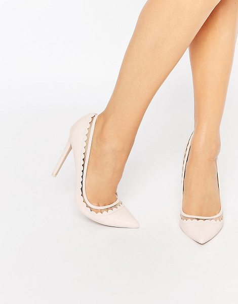 "Asos PHRASE Pointed High Heels in pink - """"Heels by ASOS Collection, Smooth faux-leather upper,..."