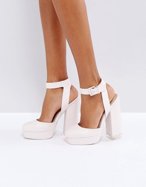 "Asos PINATA Platform Heels in pink - """"Platform shoes by ASOS Collection, Faux-leather upper,..."