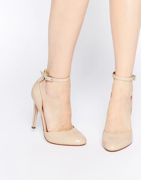 ASOS PLAYWRIGHT High Heels in beige - Heels by ASOS Collection, Leather-look upper, Patent...