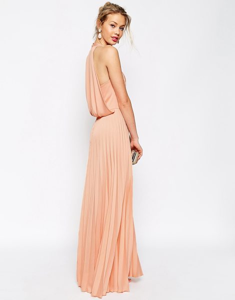 ASOS Pleat deep plunge maxi dress - Dress by ASOS Collection Mid-weight satin Deep...