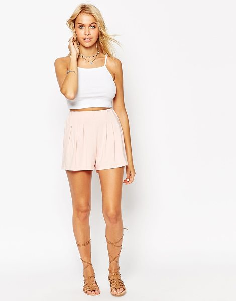 ASOS Pleated culotte shorts - Shorts by ASOS Collection Soft-touch, stretch jersey...