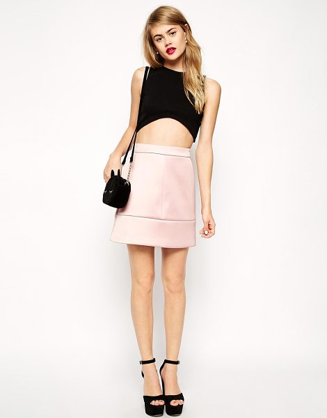 ASOS Premium a-line skirt in bonded satin - Skirt by ASOS Collection Super silky feel bonded satin...