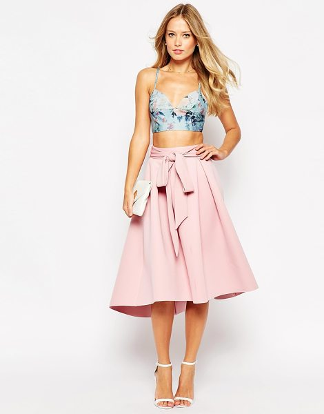 Asos Premium bonded prom skirt in pink - Midi skirt by ASOS Collection Lightweight scuba-style...