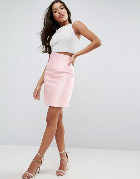 "ASOS Premium Structured Satin Skirt with Corset Detail - """"Skirt by ASOS Collection, Lightweight woven fabric,..."