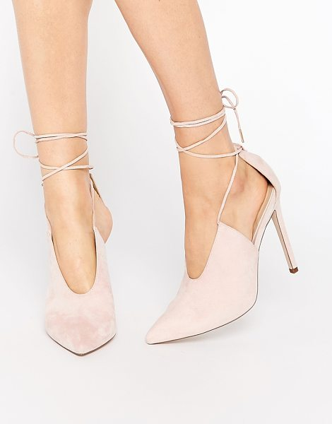 ASOS PROPELLOR Lace Up Pointed Heels - Heels by ASOS Collection, Suede-look upper, Lace-up...