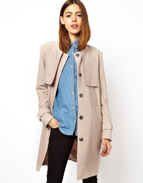 ASOS Relaxed trench - Dry clean only. Body: 87% Viscose, 13% Nylon Lining:...