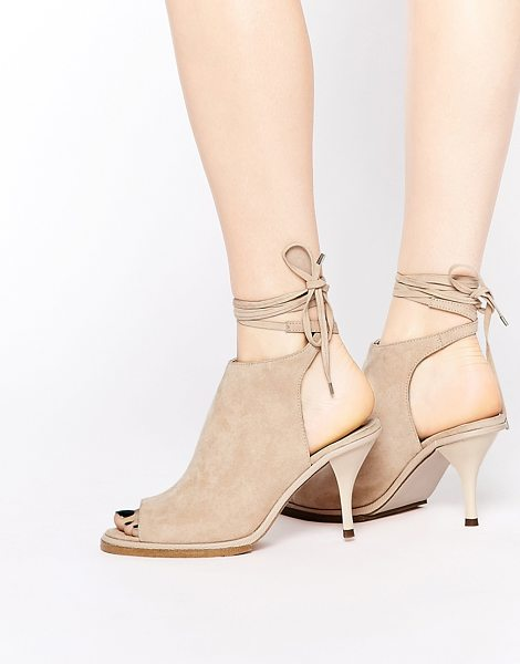 ASOS RELIZA Lace Up Shoe Boots in beige - Boots by ASOS Collection, Suede-look upper, Lace-up...