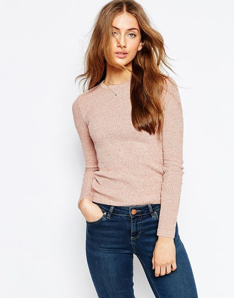 Asos Rib Sweater in pink - Sweater by ASOS Collection, Lightweight ribbed knit,...