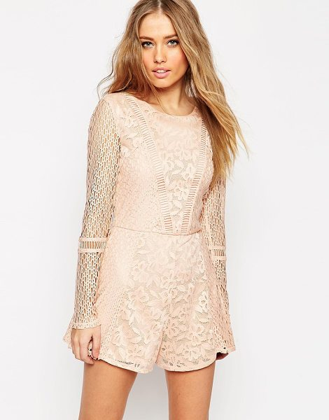 Asos Romper in pretty patched lace in nude - Romper by ASOS Collection Lined lace Scoop neckline...