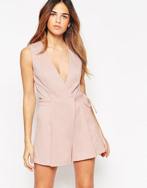 ASOS Romper with origami wrap - Romper by ASOS Collection Soft-touch woven fabric Plunge...