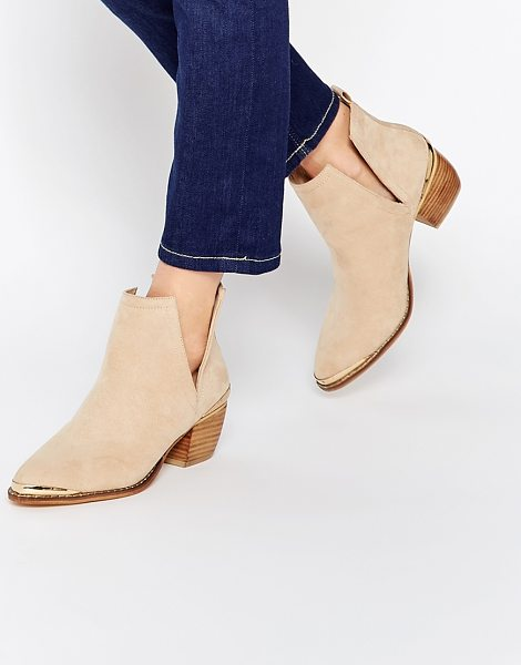 Asos Rumble pointed ankle boots in blush - Boots by ASOS Collection Suede-look upper Pull-on style...