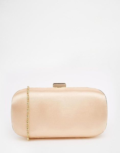 Asos Satin box clutch bag in nude - Clutch bag by ASOS Collection Smooth silky-feel outer...