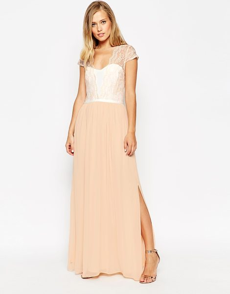 Asos Scalloped Lace Maxi Dress in pink - Maxi dress by ASOS Collection, Lightweight, lined...