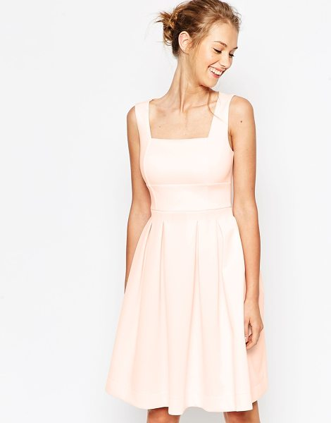 Asos Scuba debutante midi dress in pale pink - Midi dress by ASOS Collection Soft-touch scuba-style...