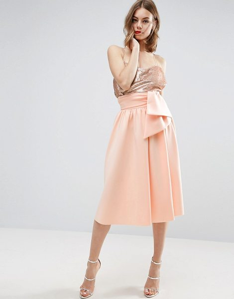 "Asos Scuba Prom Skirt with Tie Waist in beige - """"Skirt by ASOS Collection, Scuba-style fabric,..."