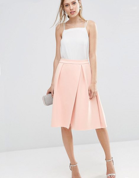 "Asos Scuba Prom Skirt with Wrap in pink - """"Skirt by ASOS Collection, Stretch scuba fabric,..."