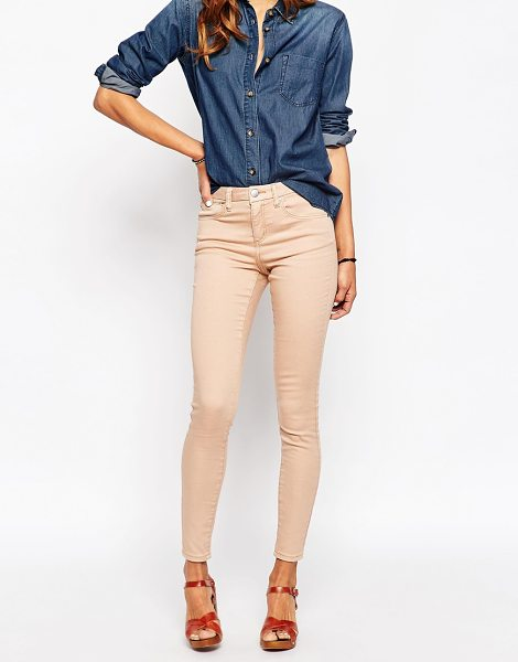 Asos Sculpt me premium jean in washed pink in pink - Sculpt Me jeans by ASOS Collection, Mid-weight denim...