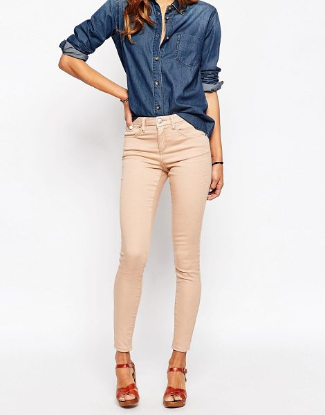 Asos 'SCULPT ME' Premium Jean in pink - Sculpt Me jeans by ASOS Collection, Mid-weight denim...