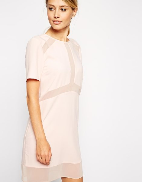ASOS Sheer and solid tshirt dress - Dress by ASOS Collection Lightweight, lightly textured...