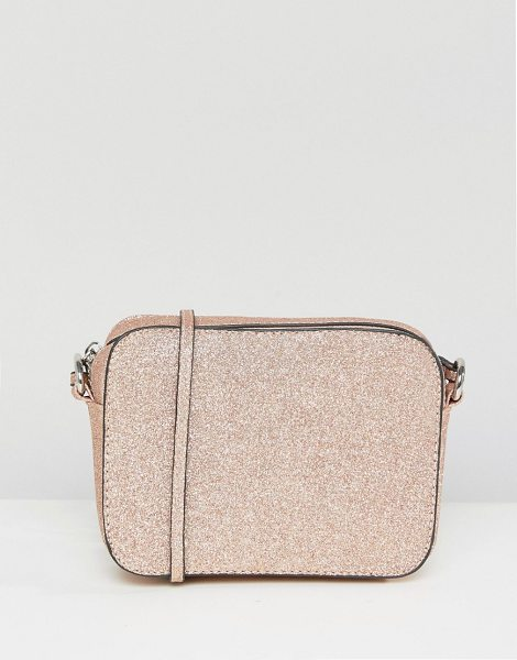 "Asos Shimmer Effect Cross Body Bag in pink - """"Bag by ASOS Collection, Fully lined, Adjustable body..."