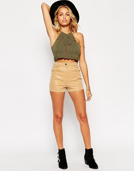 ASOS Shorts in Suede Look - Shorts by ASOS Collection, Lightweight, suede-look...
