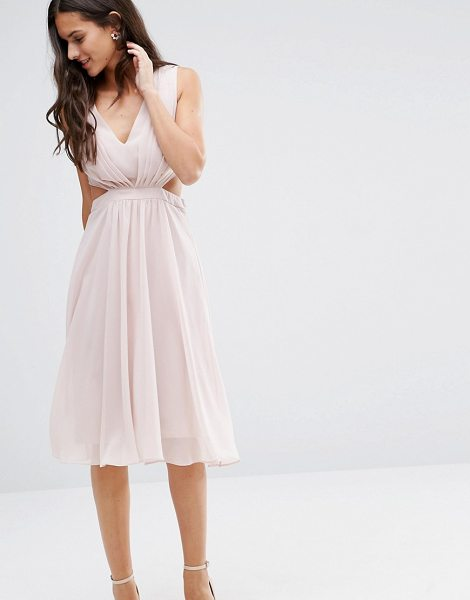 "ASOS Side Cut Out Midi Dress - """"Midi dress by ASOS Collection, Lined woven fabric,..."