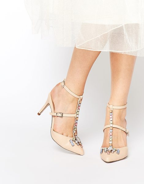 Asos SIXTH SENSE Heels in beige - Heels by ASOS Collection, Smooth leather-look upper,...