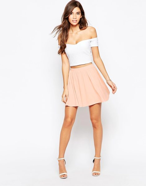 Asos Skater Skirt in Jersey in beige - Skirt by ASOS Collection, Stretch jersey, Elasticated...