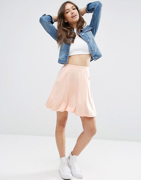 "Asos Skater Skirt with Pockets in blush - """"Skirt by ASOS Collection, Lightweight jersey, Stretch..."