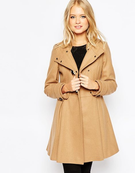 Asos Skirted duffle coat in camel - Coat by ASOS Collection Heavyweight wool-rich fabric...