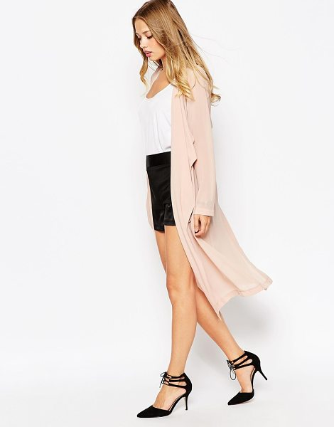 Asos Soft waterfall duster in blush - Jacket by ASOS Collection Semi-sheer woven fabric...