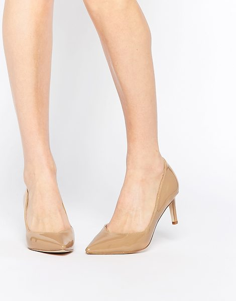 Asos SOULMATE Pointed Heels in beige - Heels by ASOS Collection, Patent leather look upper,...